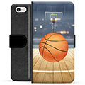 iPhone 5/5S/SE Premium Lommebok-deksel - Basketball