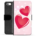 iPhone 5/5S/SE Premium Lommebok-deksel - Love