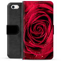 iPhone 5/5S/SE Premium Lommebok-deksel - Rose