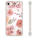 iPhone 7 / iPhone 8 Hybrid-deksel - Rosa Blomster