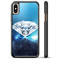 iPhone X / iPhone XS Beskyttelsesdeksel - Diamant