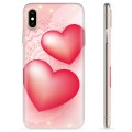 iPhone X / iPhone XS TPU-deksel - Love