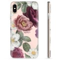 iPhone X / iPhone XS TPU-deksel - Romantiske Blomster