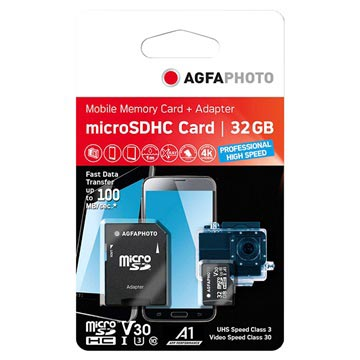 AgfaPhoto Professional High Speed MicroSDXC Minnekort 10616