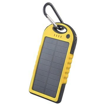 Forever STB-200 Solcellelader - 5000mAh - Gul