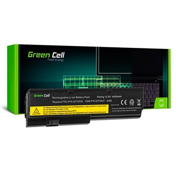 Green Cell Batteri - Lenovo Thinkpad X200, X200s, X201, X201i - 4400mAh