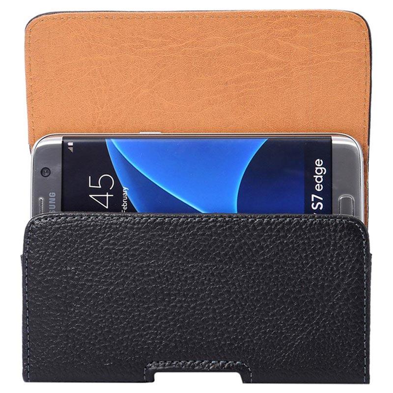 Samsung Galaxy S7 Edge Horisontal Holster Veske Svart