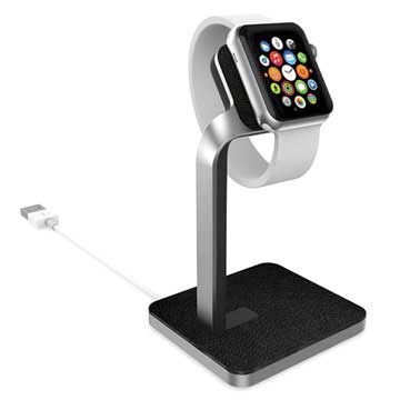 Apple Watch Mophie Watch Dock - Sølv / Svart