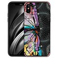 iPhone X / iPhone XS NXE Unique Series TPU-deksel - Øyestikker - Rosa