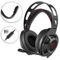 Onikuma M190 Mega Bass Gaming-headset med LED - Svart