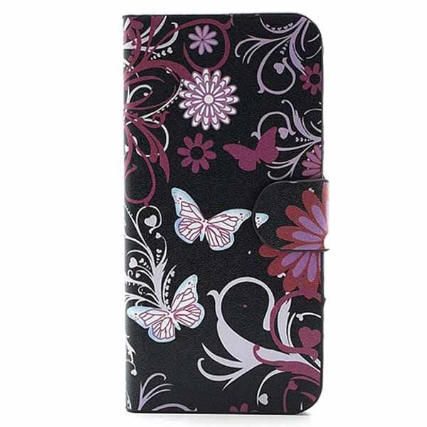 iPhone 5 5S SE Veske Sommerfugler Blomster