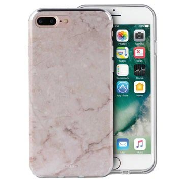 iPhone 6/6S/7/8 Plus Puro Marble Deksel - Rosa