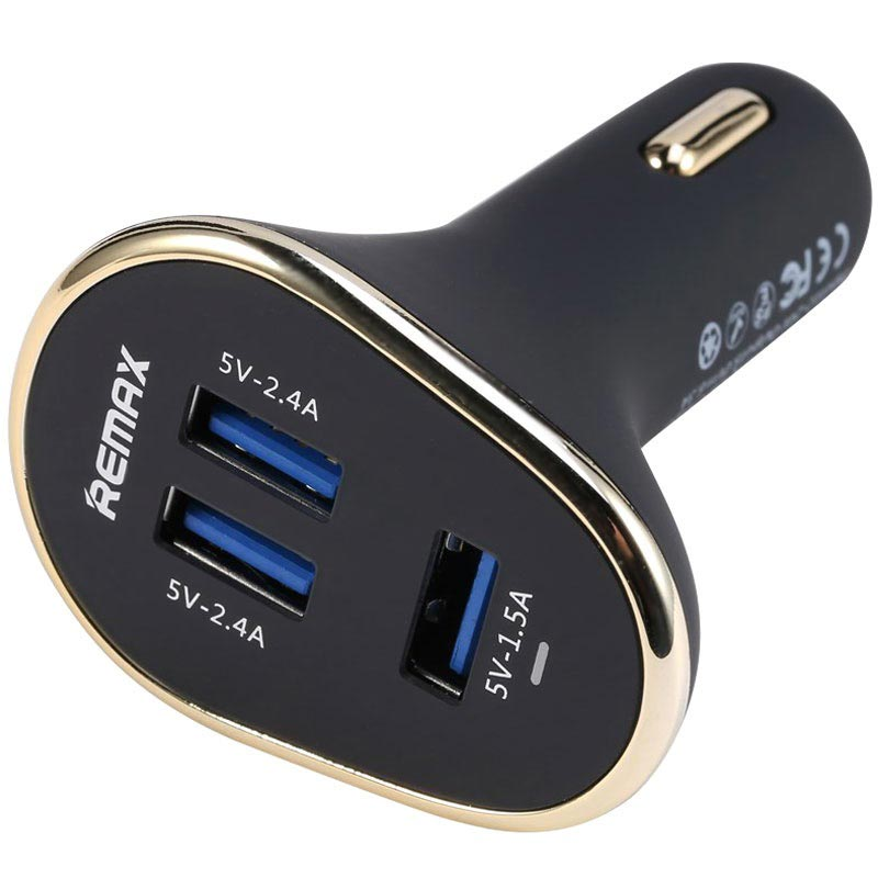 Remax Smart Trippel USB-Billader - Svart
