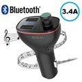 Rock B300 Billader og Bluetooth FM-sender - Svart