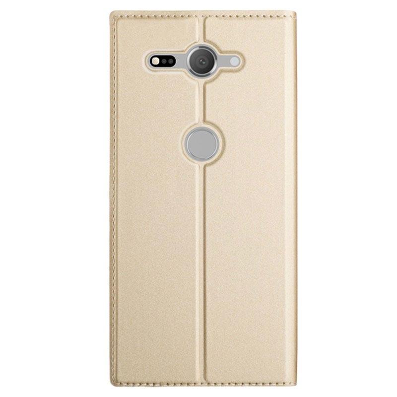 Sony Xperia XZ2 Compact Slim Flip deksel med Kortluke