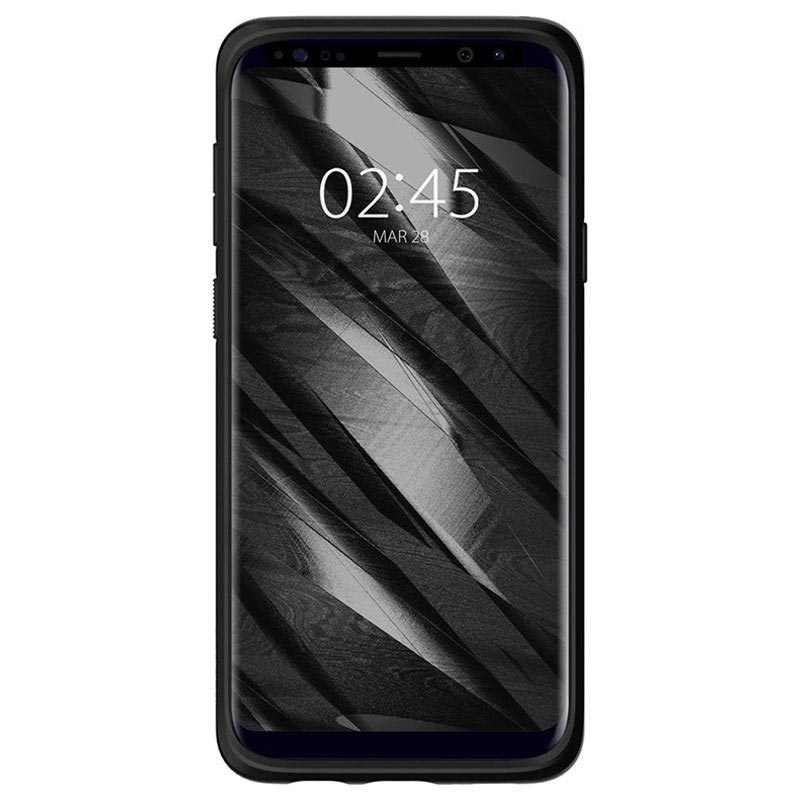 Samsung Galaxy S9+ Spigen Liquid Air Deksel - Matt Svart