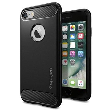 iPhone 7 / iPhone 8 Spigen Rugged Armor Deksel - Svart