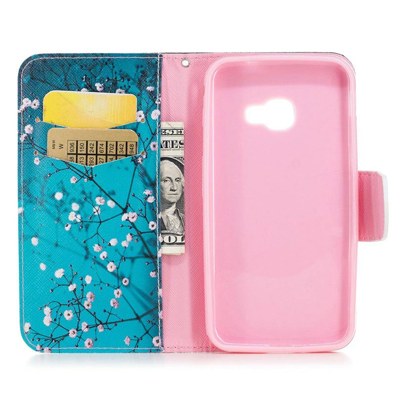 Samsung Galaxy Xcover 4s, Galaxy Xcover 4 Wonder-serien Lommebok-deksel - Hvite Blomster
